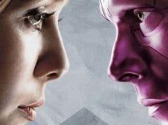 Visión y Bruja Escarlata en 'Vengadores: Infinity War'