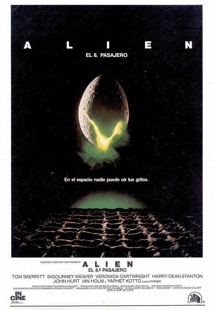 Poster de 'Alien, el octavo pasajero'
