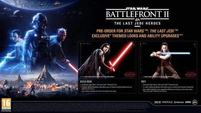 Kylo Ren y Rey en 'Star Wars: Los Últimos Jedi' a través de 'Battlefront II'