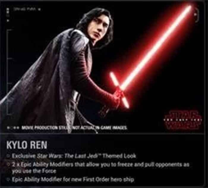 Kylo Ren en 'Star Wars: Los Últimos Jedi' a través de 'Battlefront II'