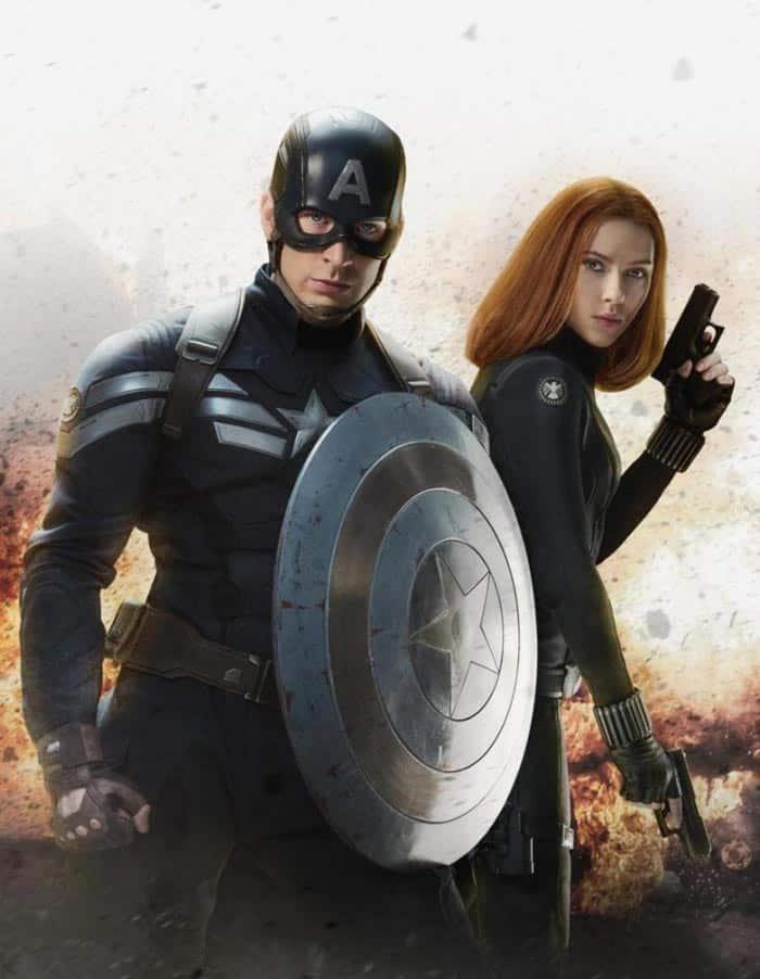 Capitán América junto a Viuda Negra