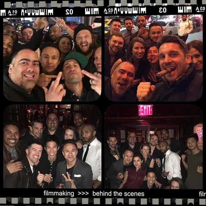 Imágenes de la fiesta tras terminar el rodaje de 'The Punisher' (Netflix)