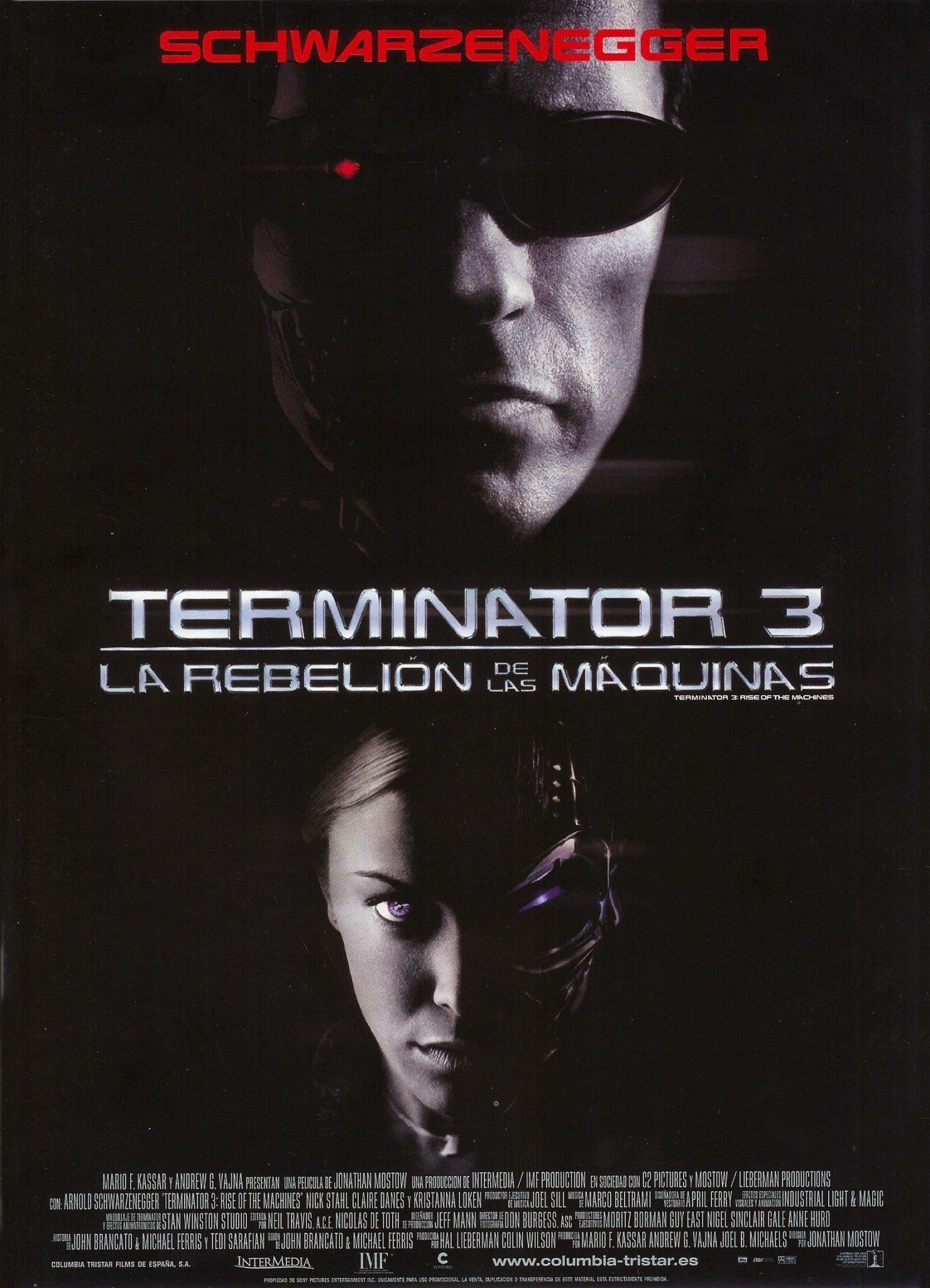 Poster de 'Terminator 3: La rebelión de las máquinas'