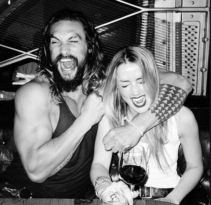 Primera imagen de Jason Momoa y Amber Heard antes del rodaje de 'Aquaman'