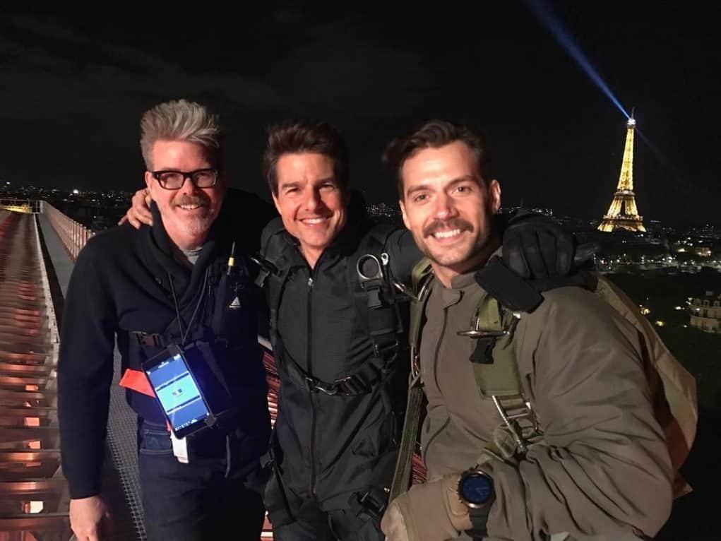 Henry Cavill y Tom Cruise en el rodaje de 'Misión Imposible 6'