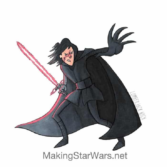 Así será el nuevo look de Kylo Ren en 'Star Wars: Los Últimos Jedi'
