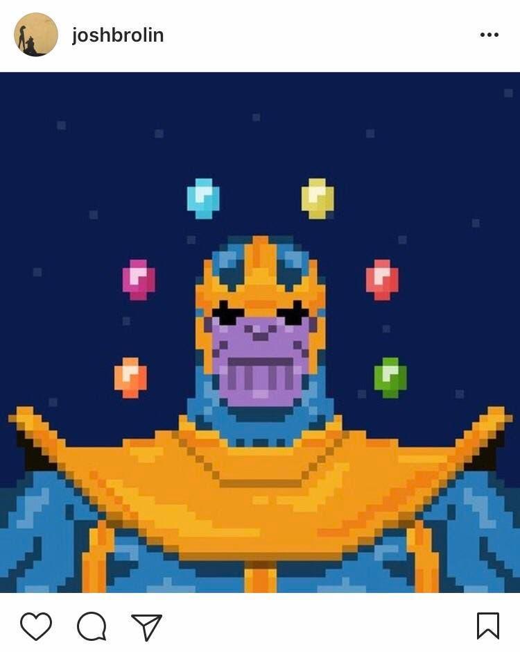 Thanos en Vengadores: Infinity War avisa de su llegada en Instagram