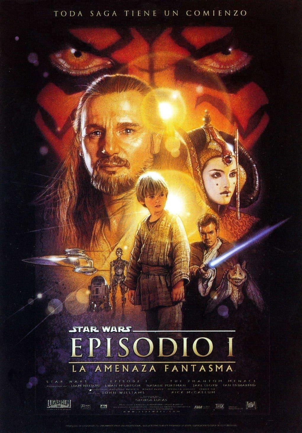 Poster de 'La guerra de las galaxias. Episodio I: La amenaza fantasma'