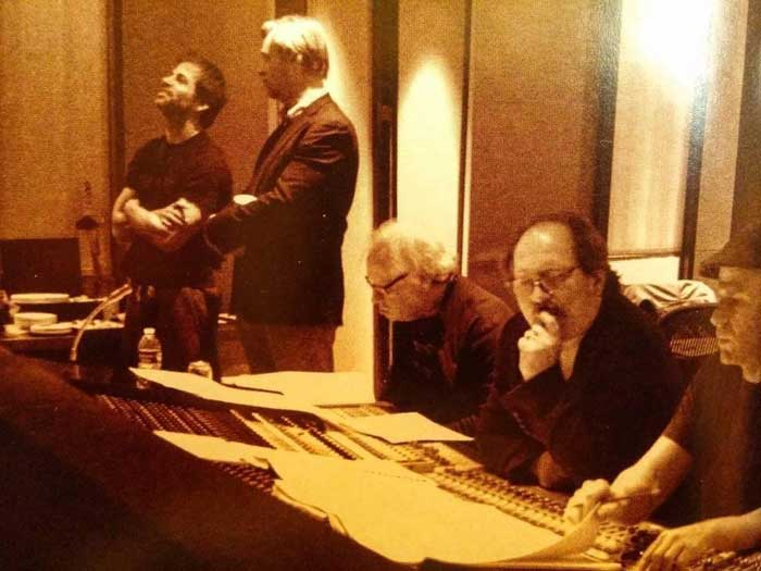 Zack Snyder junto a Christopher Nolan y Hans Zimmer (DC Comics)