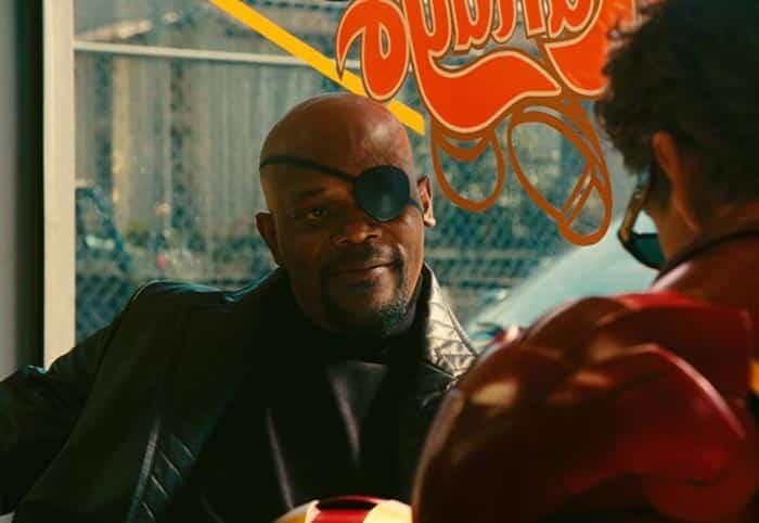 Nick Fury en Capitana Marvel
