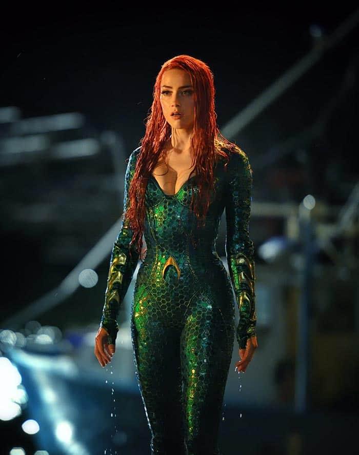 Amber Heard como Mera en Aquaman