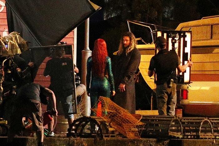 Primera imagen oficial de Aquaman y Mera juntos en el rodaje