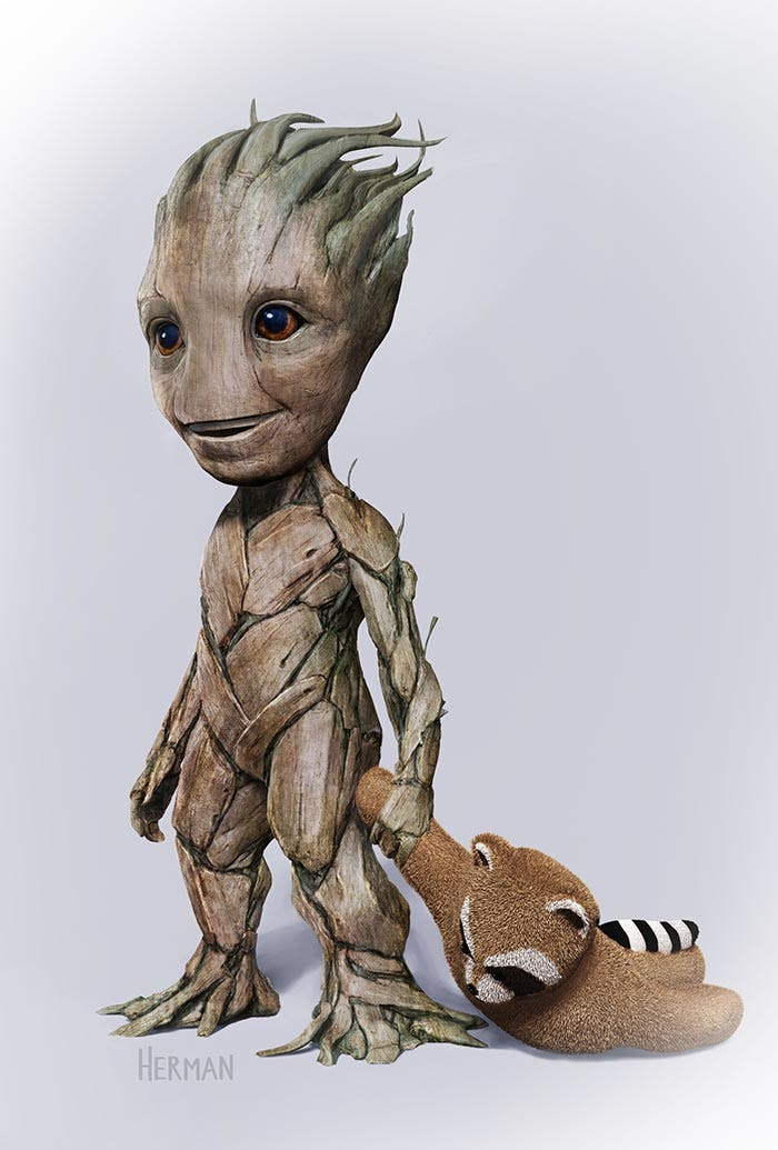 Diseños alternativos de Baby Groot en 'Guardianes de la Galaxia Vol. 2'