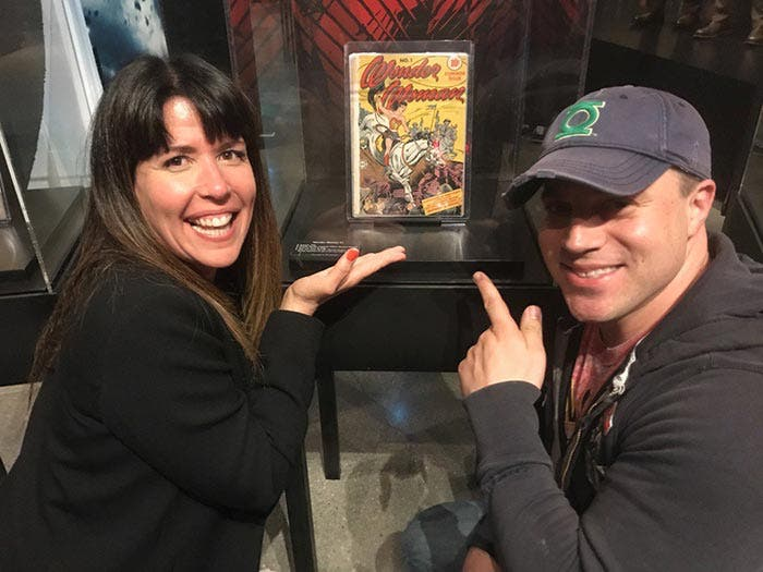 Geoff Johns con Patty Jenkins ('Wonder Woman')