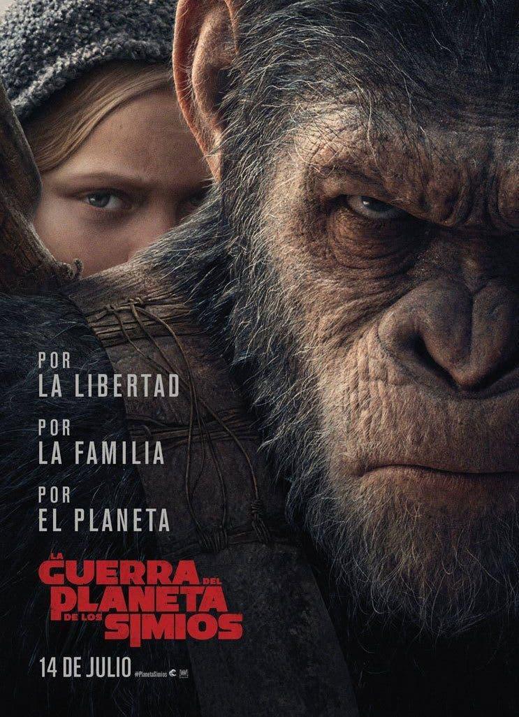 Poster de 'La guerra del planeta de los simios'
