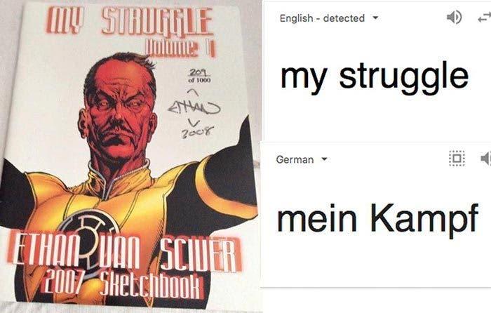 Polémica nazi por una publicación de un dibujante de cómics