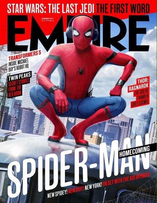 Genialísima portada de Empire con 'Spider-Man: Homecoming'