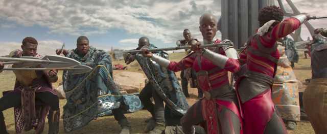 Okoye en Vengadores: Infinity War