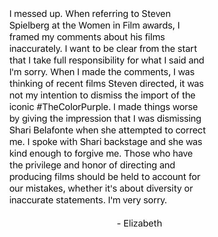 Elizabeth Banks vs Steven Spielberg