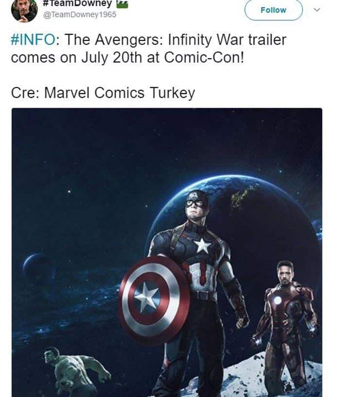 Fecha del tráiler de 'Vengadores: Infinity War' (Marvel Studios)