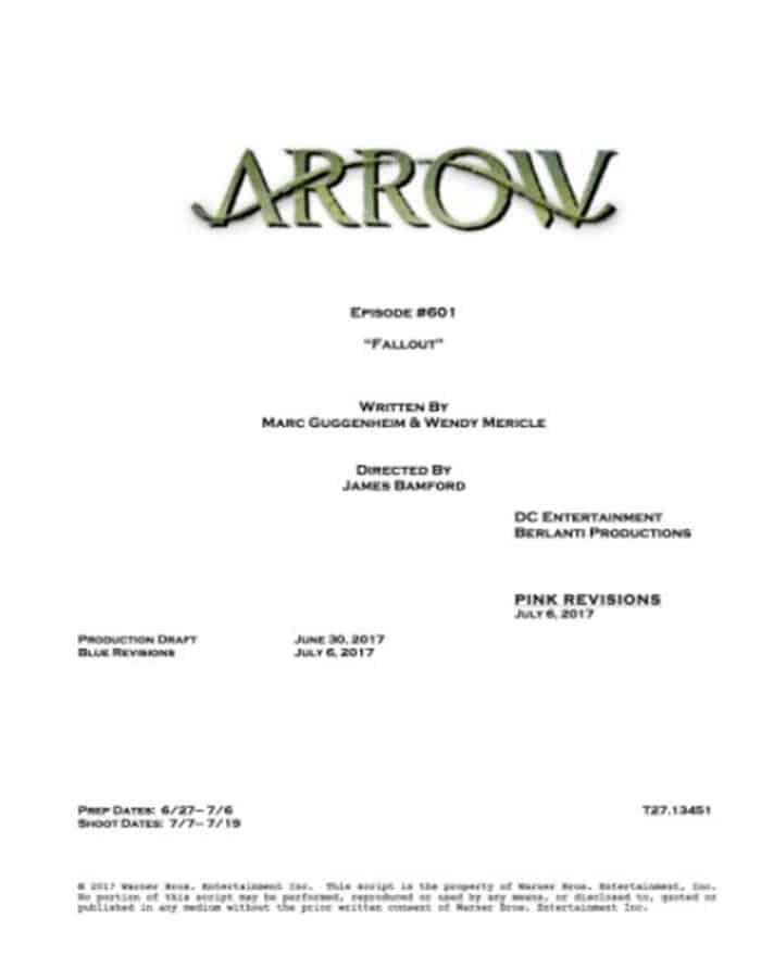 6x01 de Arrow