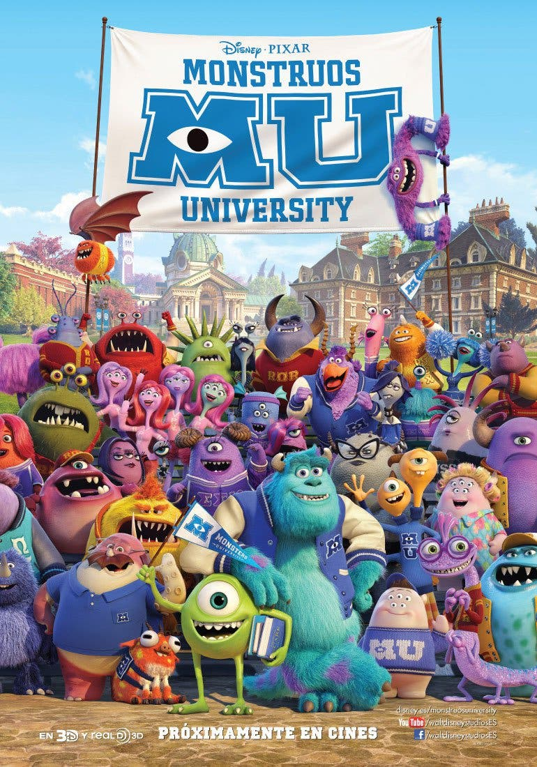 "Poster for the movie ""Monstruos University"""