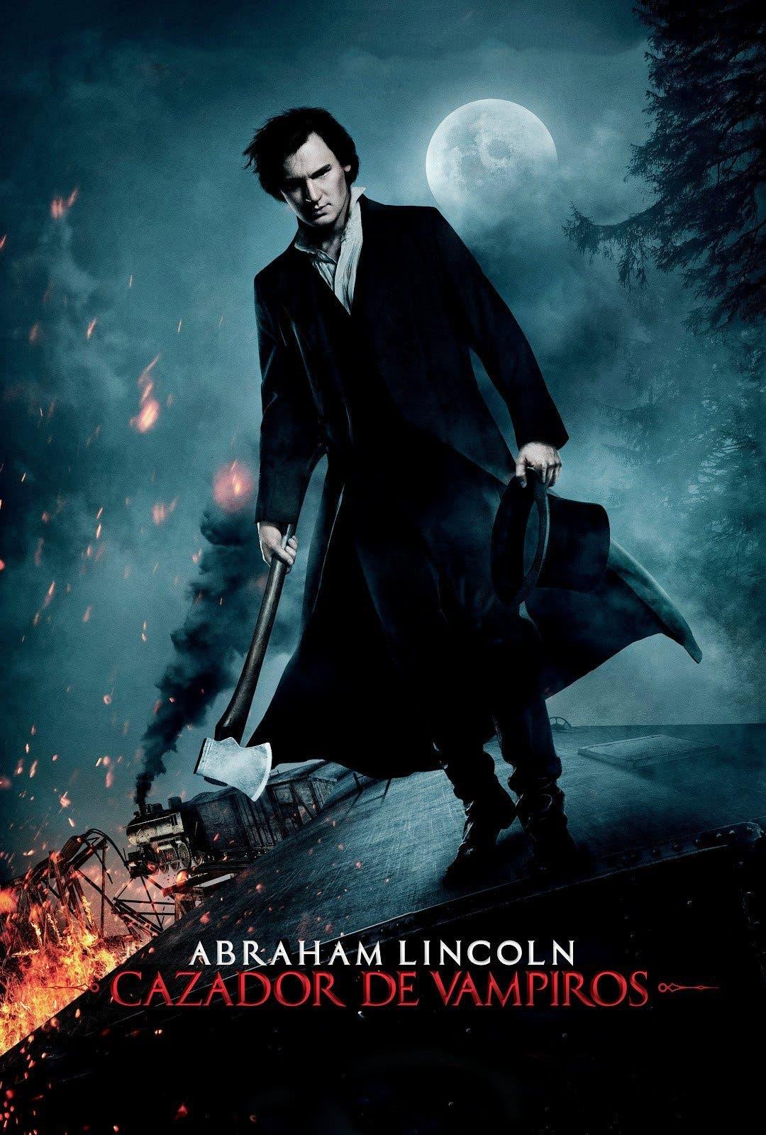 """Poster for the movie """"Abraham Lincoln, cazador de vampiros"""""""