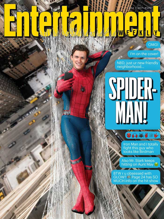 Portada EW Spider-man Homecoming