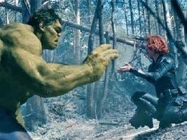 Hulk y Viuda Negra en Vengadores: Infinity War