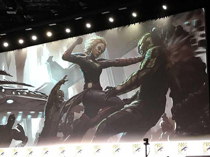 Concept arts de Capitana Marvel (2019) en la SDCC 2017