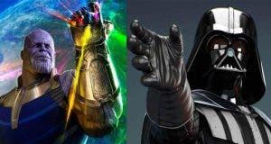 Darth Vader y Thanos en Vengadores: Infinity War