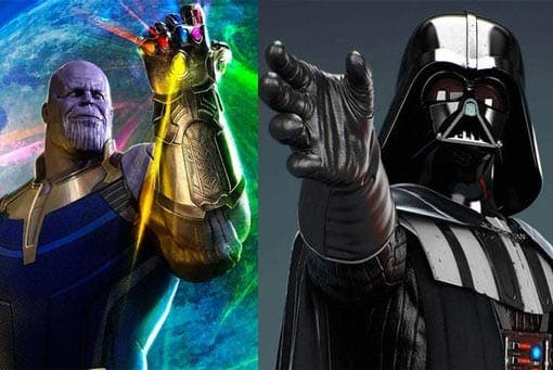 Darth Vader y Thanos en Vengadores: Infinity War