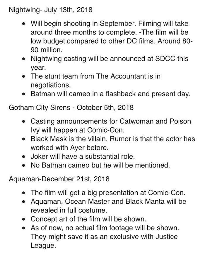 Estrenos DC Extended Universe 2018
