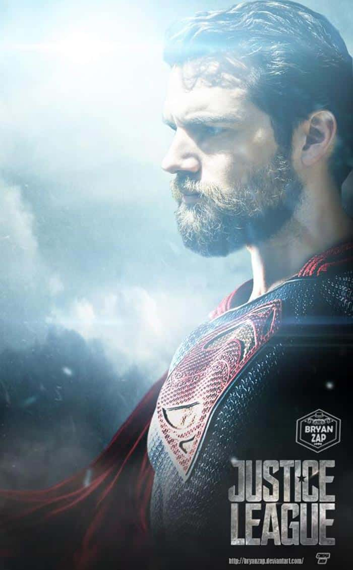Superman con barba en la Liga de la Justicia