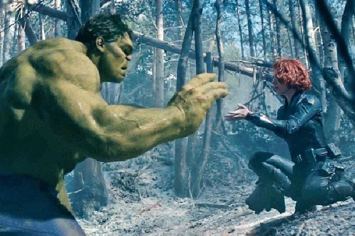 El final del romance entre Hulk y la Viuda Negra en Vengadores: Infinity War (2018)