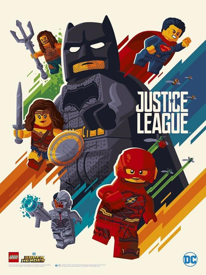 Liga de la Justicia (póster de LEGO)