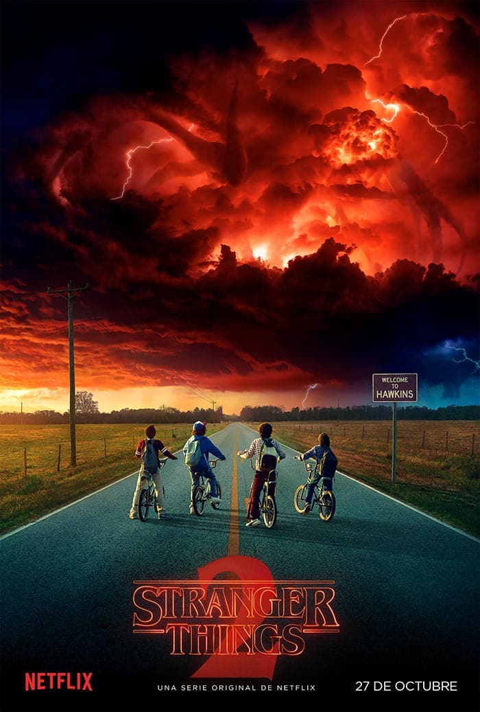 Póster de la temporada 2 de Stranger Things