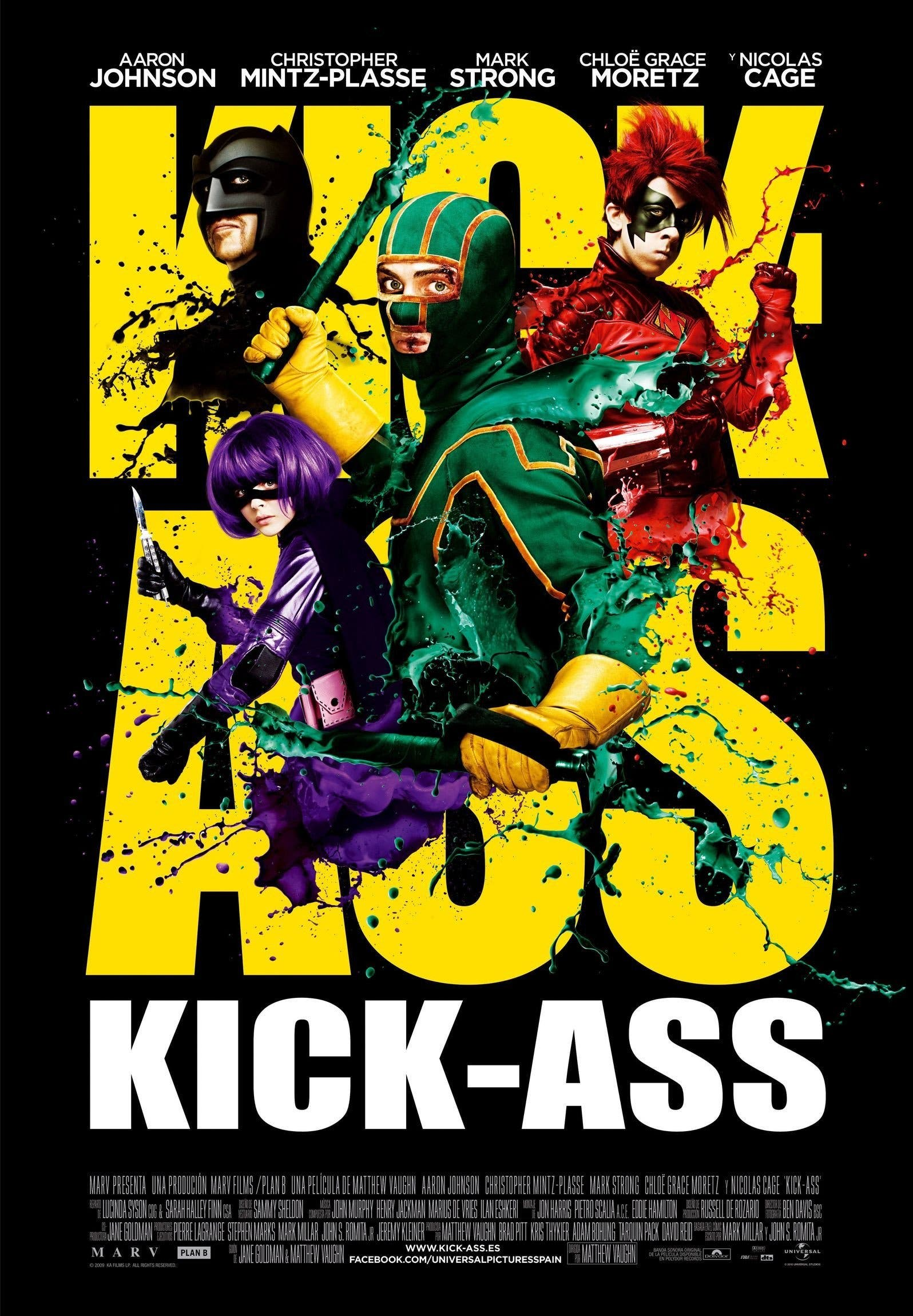 "Poster for the movie ""Kick-Ass: Listo para machacar"""