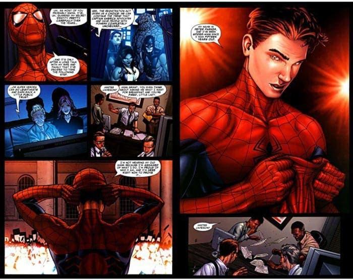 Spider-Man en el cómic de Civil War