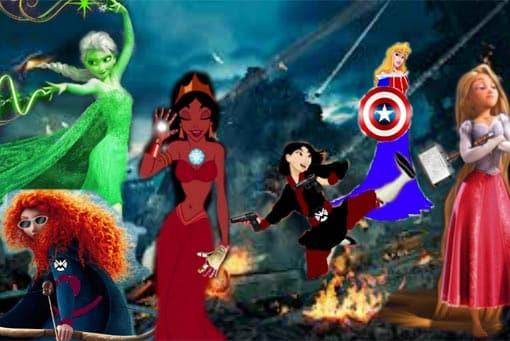 Vengadores con las Princesas Disney