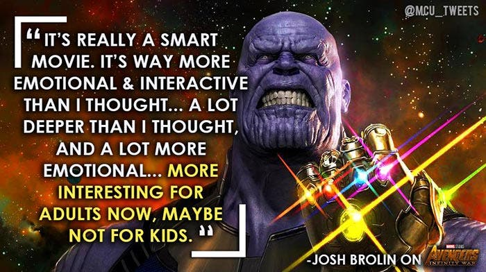 Vengadores: Infinity War con calificación R