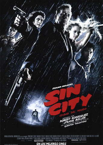 "Poster for the movie ""Frank Miller's Sin City (Ciudad del pecado)"""