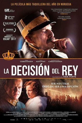 "Poster for the movie ""La decisión del rey"""