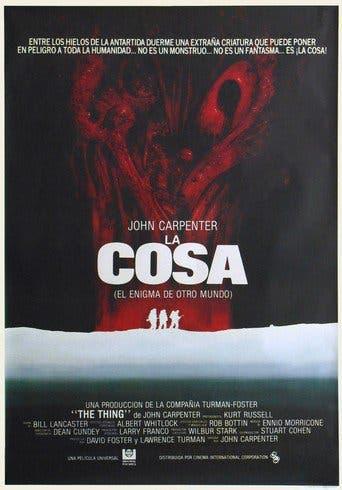 """Poster for the movie """"La cosa (El enigma de otro mundo)"""""""