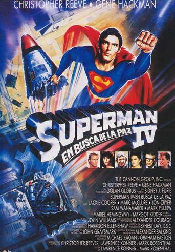 """Poster for the movie """"Superman IV: En busca de la paz"""""""