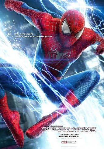 "Poster for the movie ""The Amazing Spider-Man 2: El poder de Electro"""