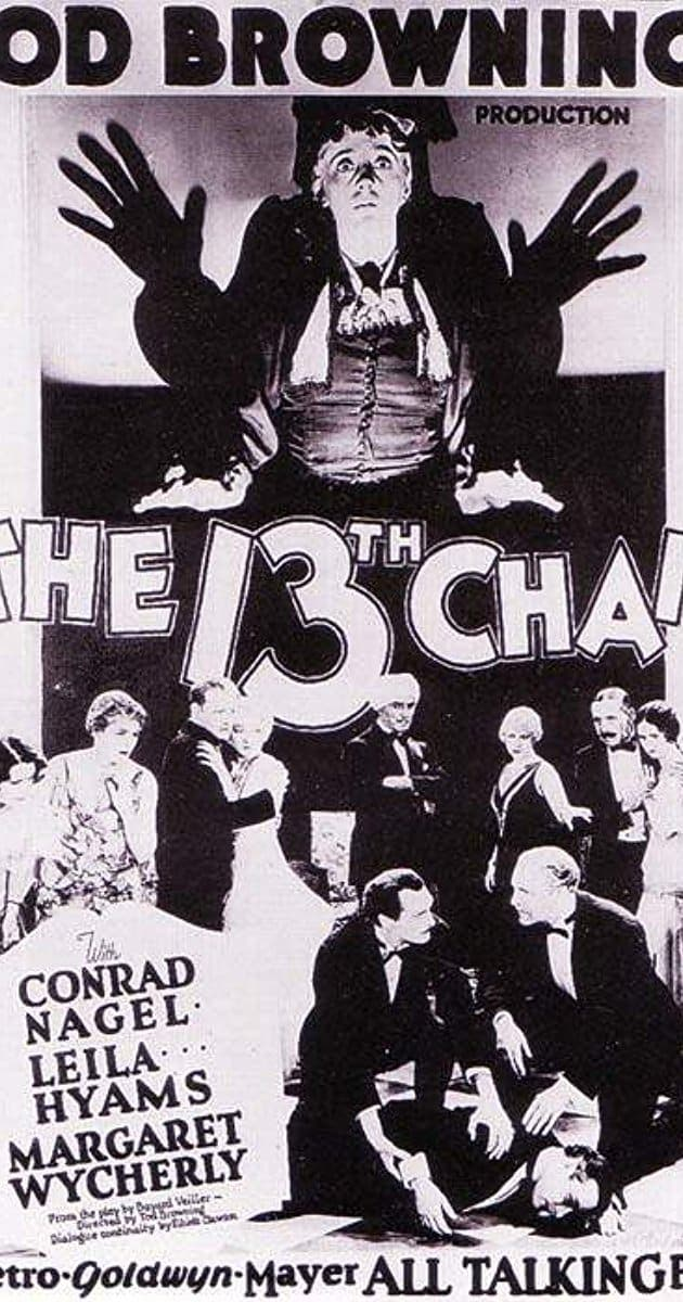 La silla número trece (The Thirteenth Chair, 1929)