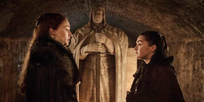 Arya y Sansa en Juego de Tronos (temporada 7)