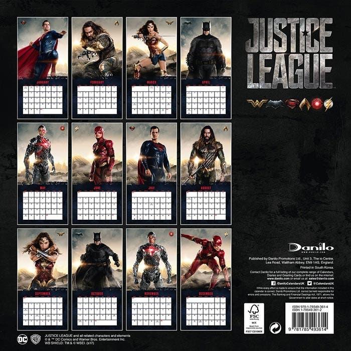 Calendario de la Liga de la Justicia