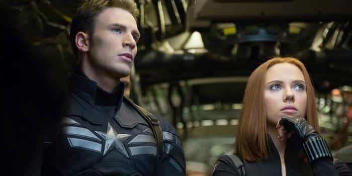 Capitán América y Viuda Negra en Capitán América: Civil War